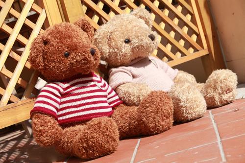 玩具熊爱恋情侣图片_想起那个相爱的季节