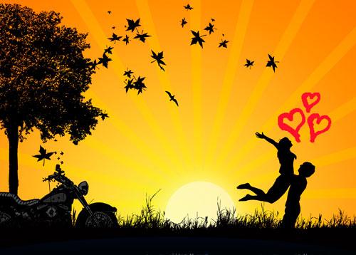 为你捕捉幸福的爱情倩影素材