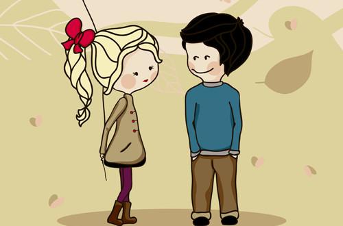 卡通情侣图片_陪着你天长地久