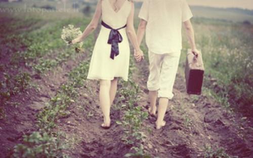 浪漫情侣背影图片