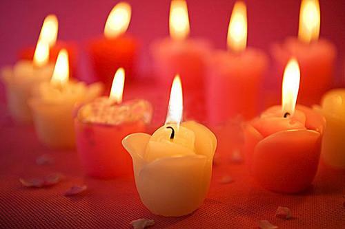 520唯美心形蜡烛素材_专属心形爱情