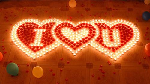 浪漫蜡烛图案素材_浪漫的场景
