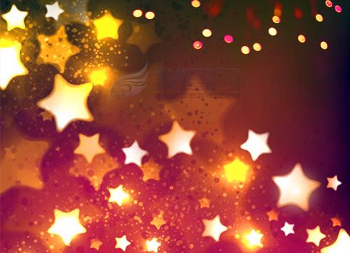 一闪一闪的小星星们就像许许多多的小灯笼