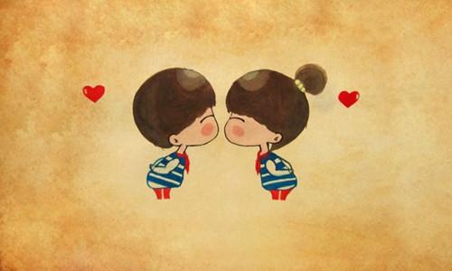 可爱甜蜜的情侣图片_卡通系列小情侣