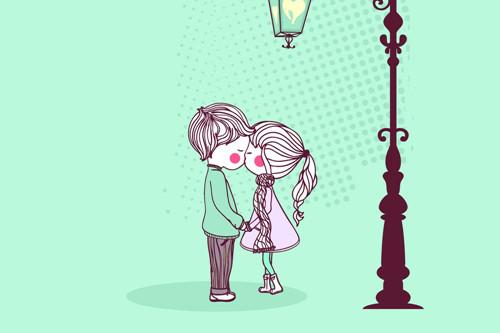 卡通恋人素材_陪伴的幸福