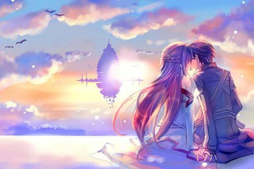 浪漫卡通情侣图片_永远在一起